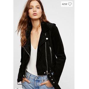 Blank NYC • Black Suede Moto Jacket